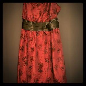 Red Rose Shiny Dress